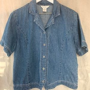 Vintage Van Heusen Denim Top | Size L